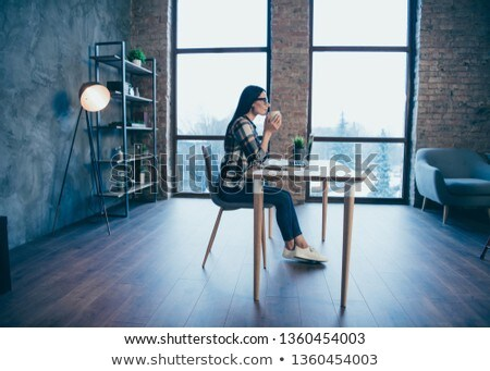 Stock photo: Boss checking young brunette is working hard