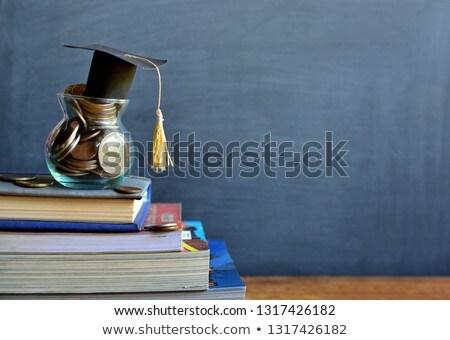 Oktatás alap takarékosság főiskola kéz könyv Stock fotó © devon