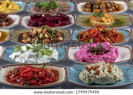 Előétel étel saláta zöldség diéta táplálkozás Stock fotó © M-studio