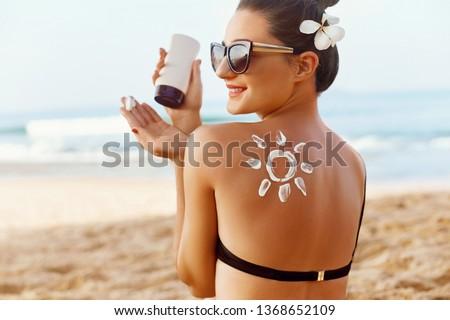 girl with solar lotion Stock photo © adrenalina