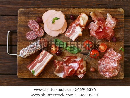 ham sausage and bacon stock photo © smuki