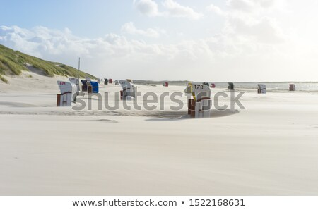 Beach Chairs in Autumn Stock photo © pictureguy
