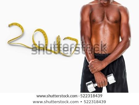 összetett kép középső rész póló nélkül macsó férfi Stock fotó © wavebreak_media