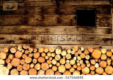 log cabin background stock photo © fanfo