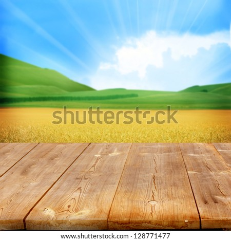 Freedom on wooden table Stock photo © fuzzbones0