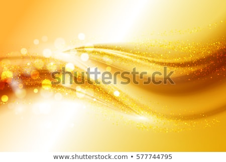 smooth light gold waves lines and lens flares vector abstract background stock photo © fresh_5265954