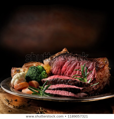 Stock photo: Juicy roasted beef steak