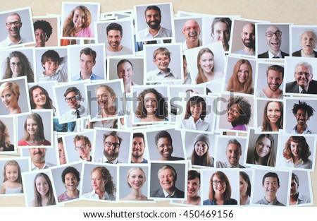 Collage Of Smiling People Stock photo © AndreyPopov