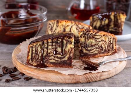 Tányér darab finom csokoládés sütemény díszített menta Stock fotó © olira
