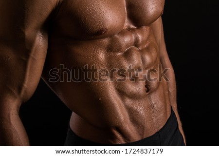 Sterke bodybuilder zes pack perfect Stockfoto © Jasminko