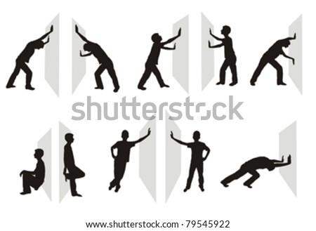 Stockfoto: Man · positie · afbeelding · geïsoleerd · witte