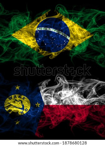 Brazil and Wake Island Flags  Stock photo © Istanbul2009