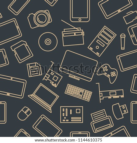 Devices And Gadgets Pattern Сток-фото © kup1984
