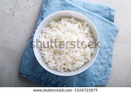 çanak · beyaz · pirinç · Çin · yemek · çubukları · ahşap · pişirmek - stok fotoğraf © digifoodstock