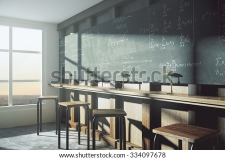 black chalkboard with research concept 3d rendering stock photo © tashatuvango
