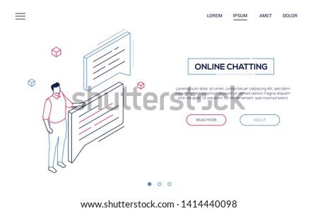 Copywriting concept - flat design style colorful illustration Stock photo © Decorwithme