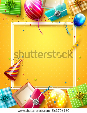 A colourful birthday template Stock photo © bluering