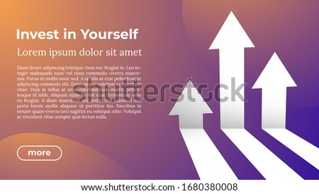 Foto stock: Invest In Yourself - Web Template In Trendy Colors