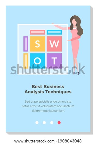 Data Business Analytics Techniques, Letters Vector Stock photo © robuart