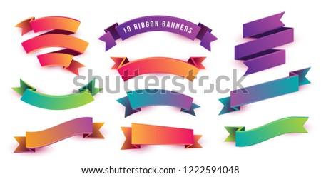 3D · szalag · szimbólum · felirat · csoport · fehér - stock fotó © adamr