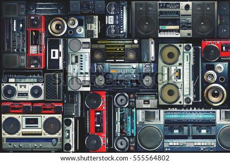городского аудио Vintage девушки музыку среде Сток-фото © Spectral