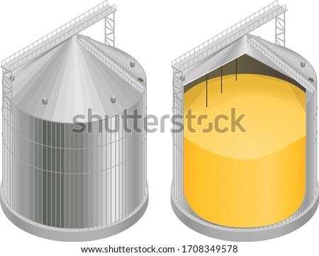 Grain tanks Stock photo © stevanovicigor