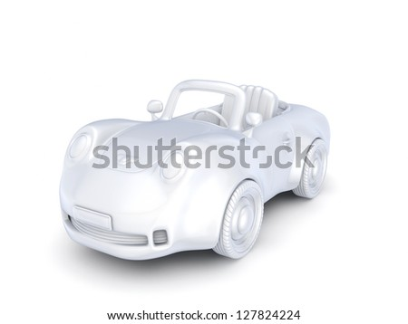 Fast sportcar isolated on white background Stock photo © Nejron