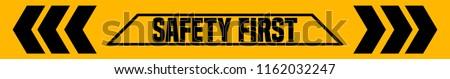 Güvenlik ilk 3D oluşturulan resim sarı Stok fotoğraf © flipfine