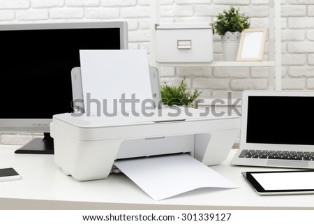 Stock photo: computer printer