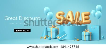 сокращение · слово · меньше · продажи · рекламный - Сток-фото © fuzzbones0