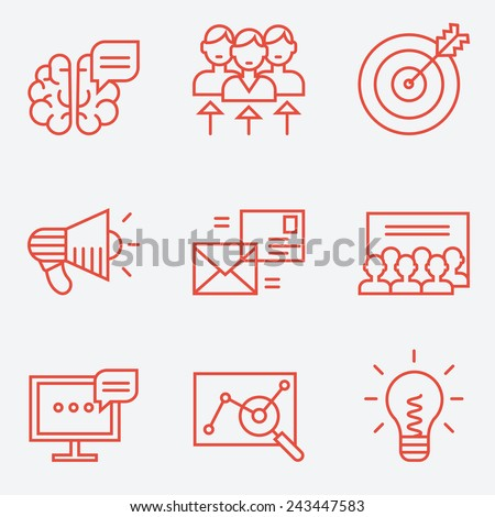 Idea Red Vector Icon Design Stock photo © rizwanali3d