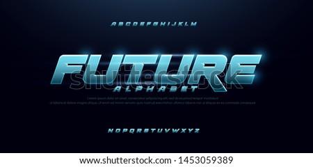 Glow Text Stock photo © netkov1
