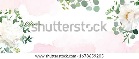 Aquarela bandeira flores floral vetor abstrato Foto stock © kostins