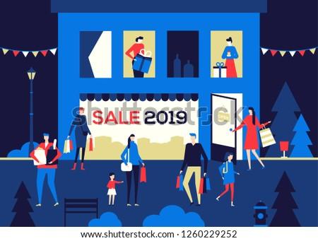renkli · alışveriş · kalabalık · satış · insanlar - stok fotoğraf © decorwithme
