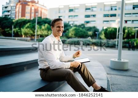 красивый · мужчина · халат · кофе · за · пределами · дома - Сток-фото © deandrobot