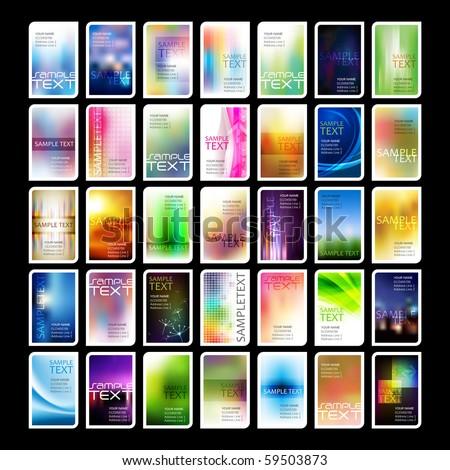 Moderna vibrante tarjeta de visita plantilla negocios oficina Foto stock © SArts