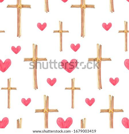 ベクトル · シームレス · クロス · 単純な · グリッド - ストックフォト © biv