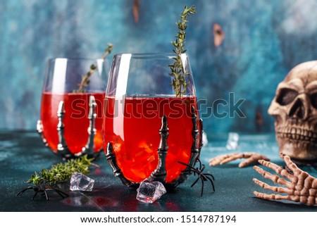 halloween · kokteyl · martini · cam · kalp · saman · kokteyller - stok fotoğraf © furmanphoto