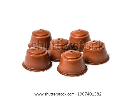Flat lay of Coffee maker and coffee beans on red background. Stock photo © Illia