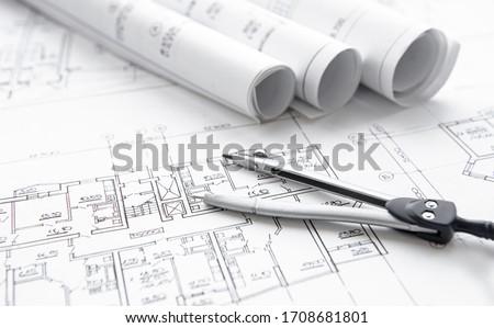 строительство · инструменты · здании · молота · архитектура · белый - Сток-фото © kayros