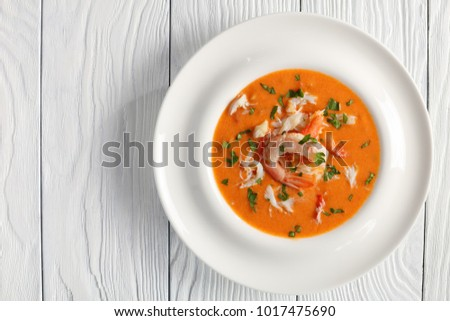 bowl of crustacean soup Stock photo © M-studio