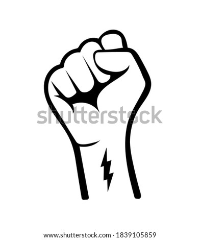 hand is clenched fist Stock photo © OleksandrO