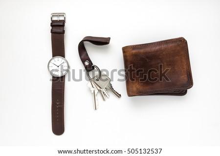 modern leather wristwatch stock photo © michaklootwijk