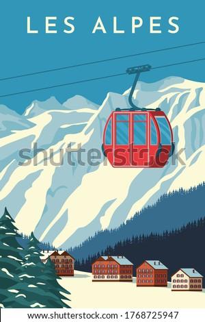 Kayakçı kayakçılık alpler gece spor kar Stok fotoğraf © wavebreak_media
