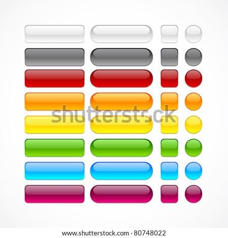 red glossy circle in a square vector illustration stock photo © cidepix