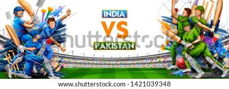 Spelen cricket kampioenschap sport illustratie man Stockfoto © vectomart