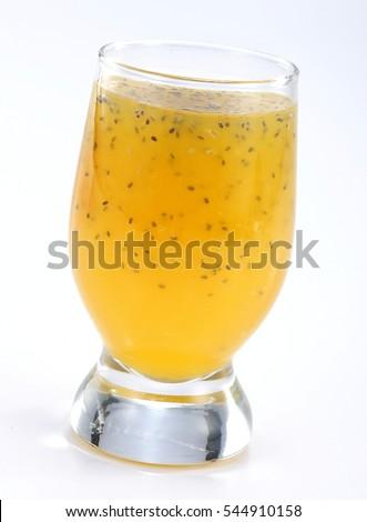 スムージー ジュース 種子 黄色 夏 トロピカルフルーツ ストックフォト © Melnyk