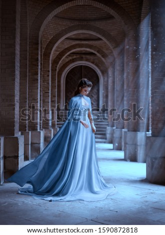 Fantasy zamek princess ilustracja tle sztuki Zdjęcia stock © bluering