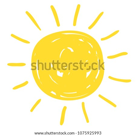 Doodle Vector Sun Drawing In Flat Style For Icons And Summer Designs Stockfoto © Pravokrugulnik