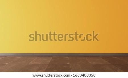 yellow wall and black stone floor under sun light Stock photo © sedatseven